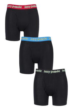 Mens 3 Pack SOCKSHOP Lazy Panda Bamboo Boxer Shorts