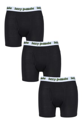 Mens 3 Pack SOCKSHOP Lazy Panda Bamboo Boxer Shorts