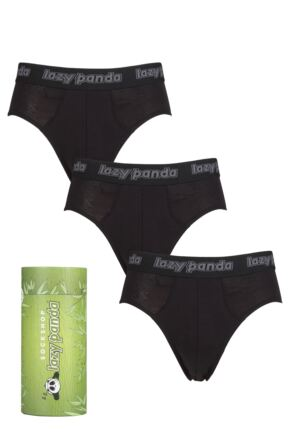 Mens 3 Pack SOCKSHOP Lazy Panda Bamboo Briefs