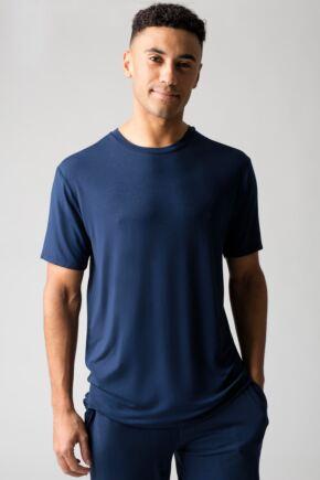 Mens 1 Pack Lazy Panda Bamboo Loungewear Selection T-Shirt