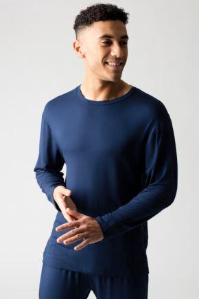 Mens 1 Pack Lazy Panda Bamboo Loungewear Selection Long Sleeved Top
