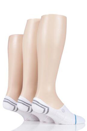 Mens and Ladies 3 Pair Stance Gamut 2 Cotton Socks White 3-5.5 Ladies