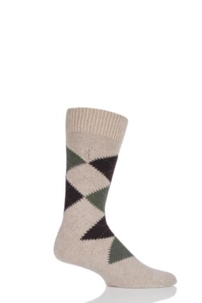 Mens 1 Pair Pringle of Scotland 85% Cashmere Argyle Socks