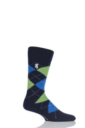 Mens 1 Pair Pringle of Scotland 85% Cashmere Argyle Socks