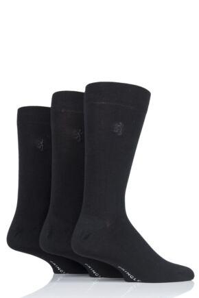 Mens 3 Pair Pringle Black Label Gentle Grip Bamboo Socks Black 7-11 Mens