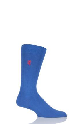 Mens 1 Pair Pringle of Scotland 80% Sea Island Cotton Plain Socks Ultramarine 6-8.5