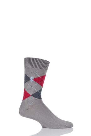 Mens 1 Pair Pringle of Scotland 6 Gauge Cotton Argyle Socks
