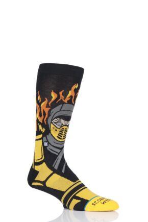 Mens 1 Pair Stance Mortal Kombat Sub Zero VS Scorpion Socks