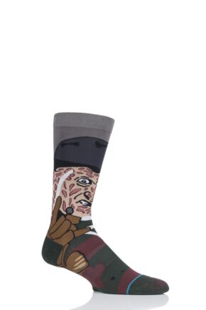 Mens 1 Pair Stance A Nightmare on Elm Street Freddy Socks