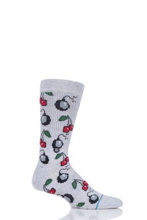 Mens 1 Pair Stance Cherri Bomb Cotton Socks