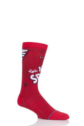 Mens 1 Pair Stance Marvel Amazing Spiderman Cotton Blend Socks