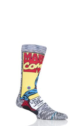 Mens 1 Pair Stance Marvel Spiderman Comic Cotton Blend Socks
