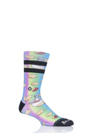 Mens 1 Pair Stance Rick and Morty Dipping Sauce Cotton Socks