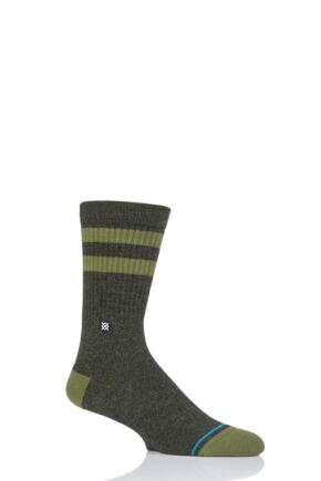 Mens and Ladies 1 Pair Stance Joven Striped Top Plain Cotton Socks