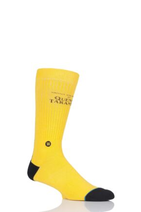 Mens 1 Pair Stance Quentin Tarantino Collection Kill Bill Socks Yellow 8.5-11.5 Mens