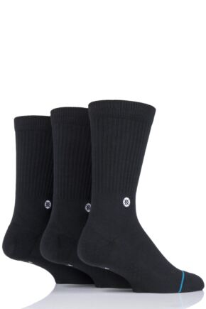 Mens and Ladies 3 Pair Stance Icon Cotton Socks