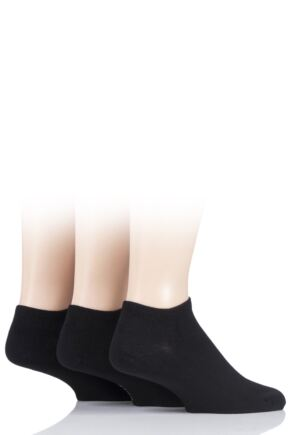 Mens 3 Pair Pringle Black Label Bamboo Trainer Socks