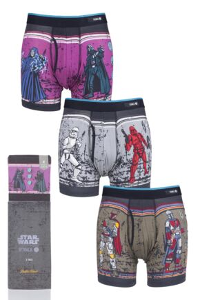 Mens 3 Pair Stance Star Wars Collaboration Gift Boxed Boxer Shorts