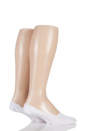 Mens 2 Pair Pringle of Scotland Plain Bamboo Loafer Socks White 7-11