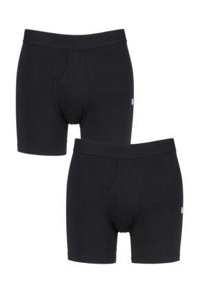 Mens 2 Pair Stance Standard Boxer Briefs Black Extra Large