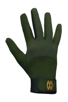Mens and Ladies 1 Pair MacWet Long Mesh Sports Gloves Green 7.5