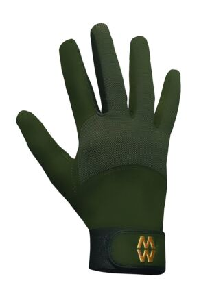 Mens and Ladies 1 Pair MacWet Long Mesh Sports Gloves Green 7.75