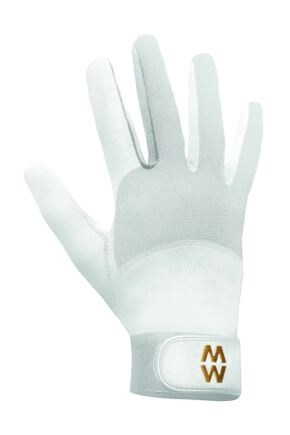 Mens and Ladies 1 Pair MacWet Long Mesh Sports Gloves White 7.75