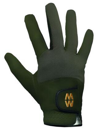 Mens and Ladies 1 Pair MacWet Short Mesh Sports Gloves Green 11