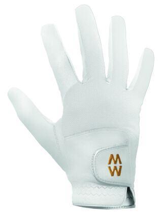 Mens and Ladies 1 Pair MacWet Short Mesh Sports Gloves White 6