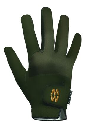 Mens and Ladies 1 Pair MacWet Short Climatec Sports Gloves Green 9