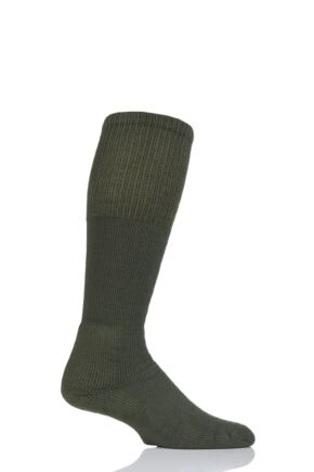Mens 1 Pair Thorlos Military Boot Over the Calf Socks Olive 5-8 Mens