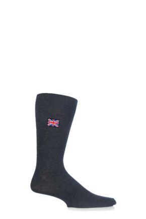 Mens 1 Pair SockShop New Individual Nations Embroidered Socks Union Jack Charcoal 7-11 Mens