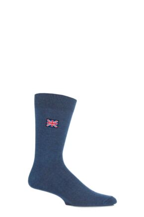 Mens 1 Pair SockShop New Individual Nations Embroidered Socks