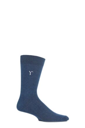 Mens 1 Pair SockShop New Individual Embroidered Initial Socks - U-Z