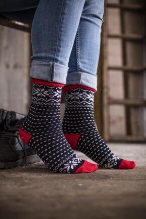 Mens Corgi Heavyweight Wool Fair Isle Socks   SockShop