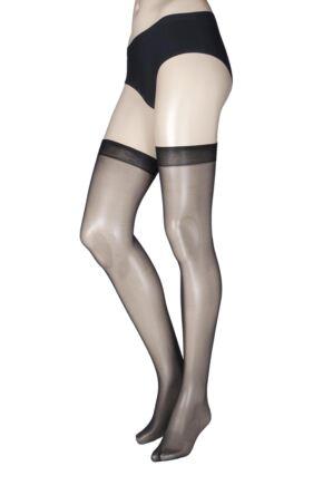 Ladies 1 Pair Miss Naughty High Shine Luxury Sheer Stockings - Up to XXXL