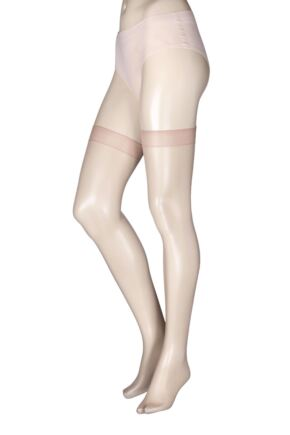 Ladies 1 Pair Miss Naughty High Shine Luxury Sheer Stockings - Up to XXXL