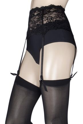 Ladies 1 Pack Miss Naughty Deep Lace Suspender Belt - Up to XXXL