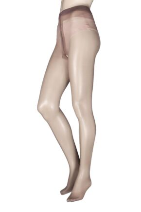 Ladies 1 Pair Miss Naughty Luxury Sheer Crotchless Tights - Up to XXXL