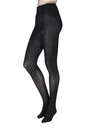 Ladies 1 Pair Miss Naughty 50 Denier Crotchless Tights - Up to XXXL