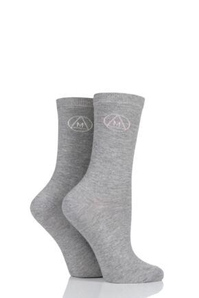 Ladies 2 Pair Missguided Classic Cotton Crew Socks