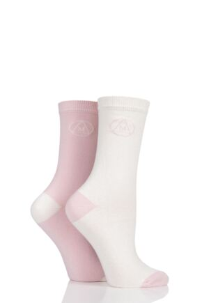 Ladies 2 Pair Missguided Classic Cotton Crew Socks