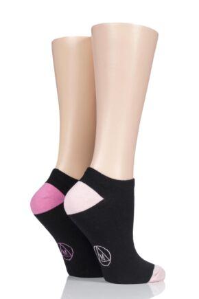 Ladies 2 Pair Missguided Plain Cotton Secret Socks