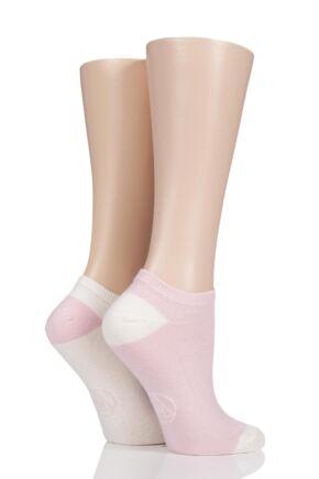 Ladies 2 Pair Missguided Plain Cotton Secret Socks Pink 4-8 Ladies