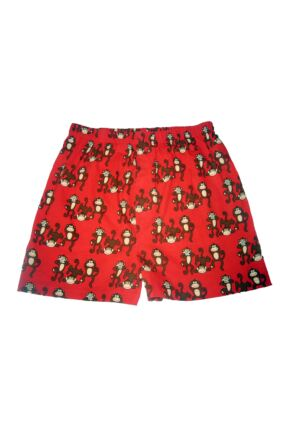Mens 1 Pair Magic Boxer Shorts In Monkey Pattern Monkey S
