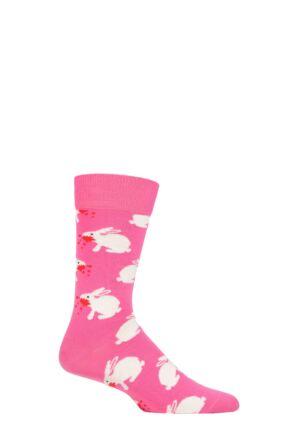 Happy Socks 1 Pair Monty Python Killer Rabbit of Caerbannog Socks Multi 4-7 Unisex
