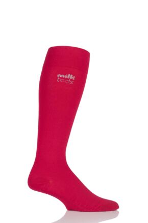 Mens and Ladies 1 Pair MilkTEDS Recovery Compression Socks Red L