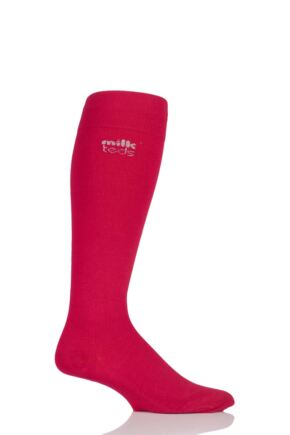 Mens and Ladies 1 Pair MilkTEDS Travel Compression Socks Red S