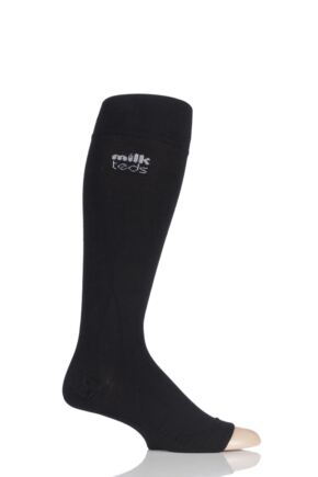Mens and Ladies 1 Pair MilkTEDS Travel Compression Open Toe Socks