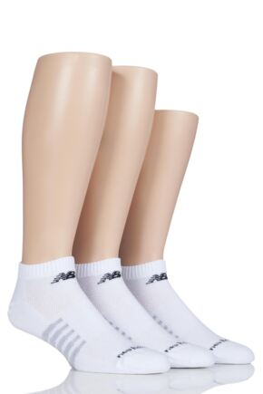 Mens and Ladies 3 Pair New Balance Performance Cotton Low Cut Socks